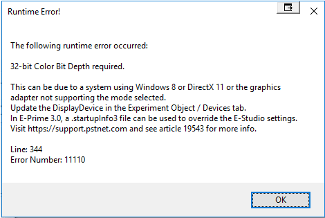 directx an internal error occurred windows 10